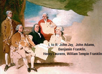 L to R: John Jay,  John Adams, 